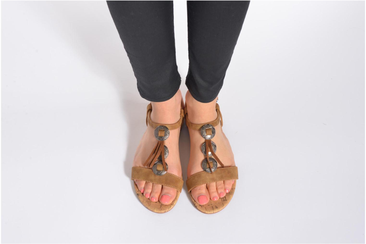 Sandals Esprit Aely Ter Sandal Brown view from underneath / model view