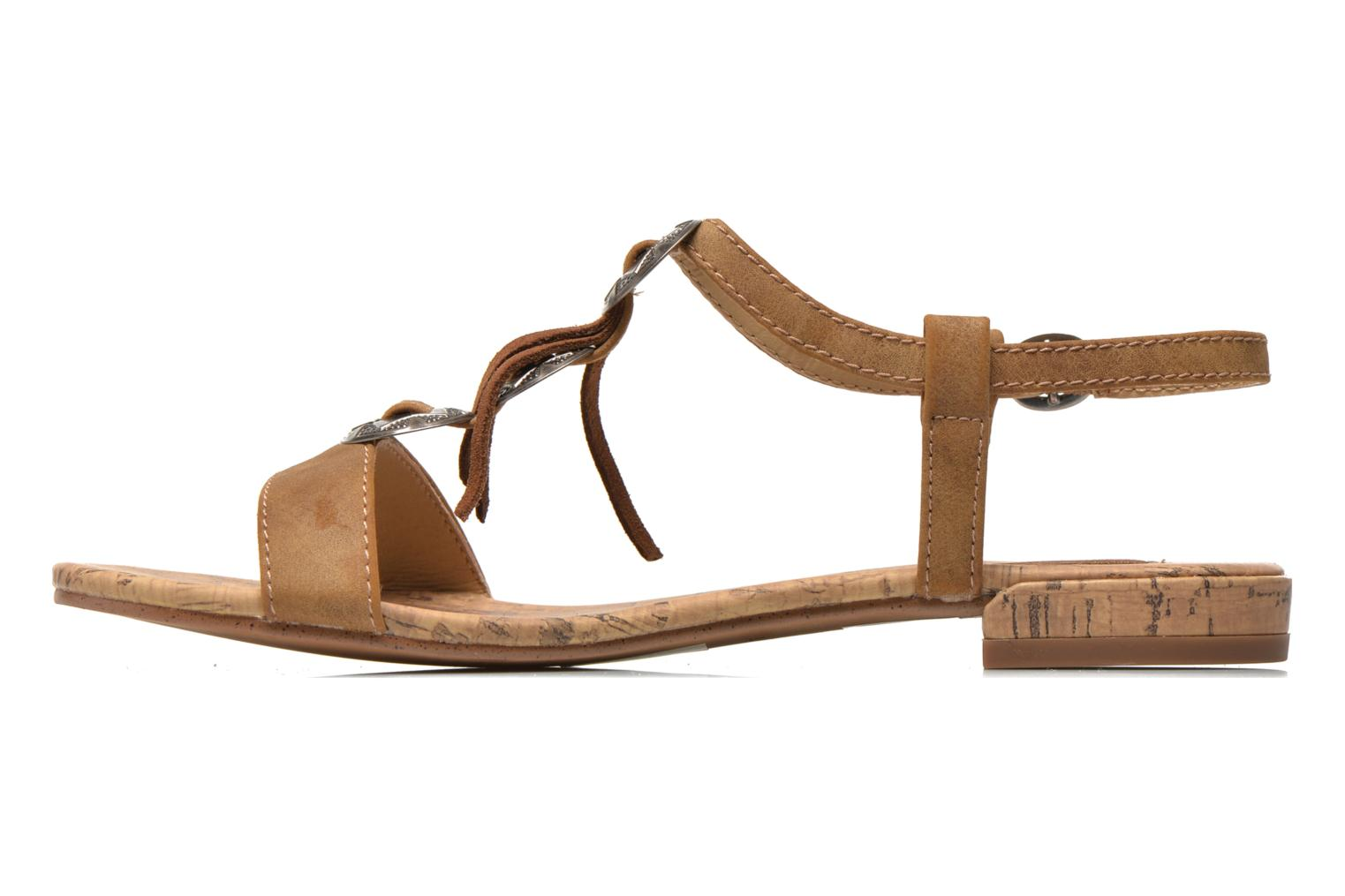 Sandals Esprit Aely Ter Sandal Brown front view