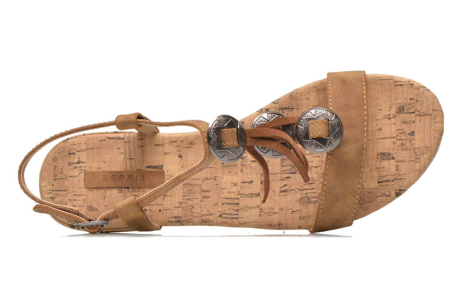 Sandals Esprit Aely Ter Sandal Brown view from the left