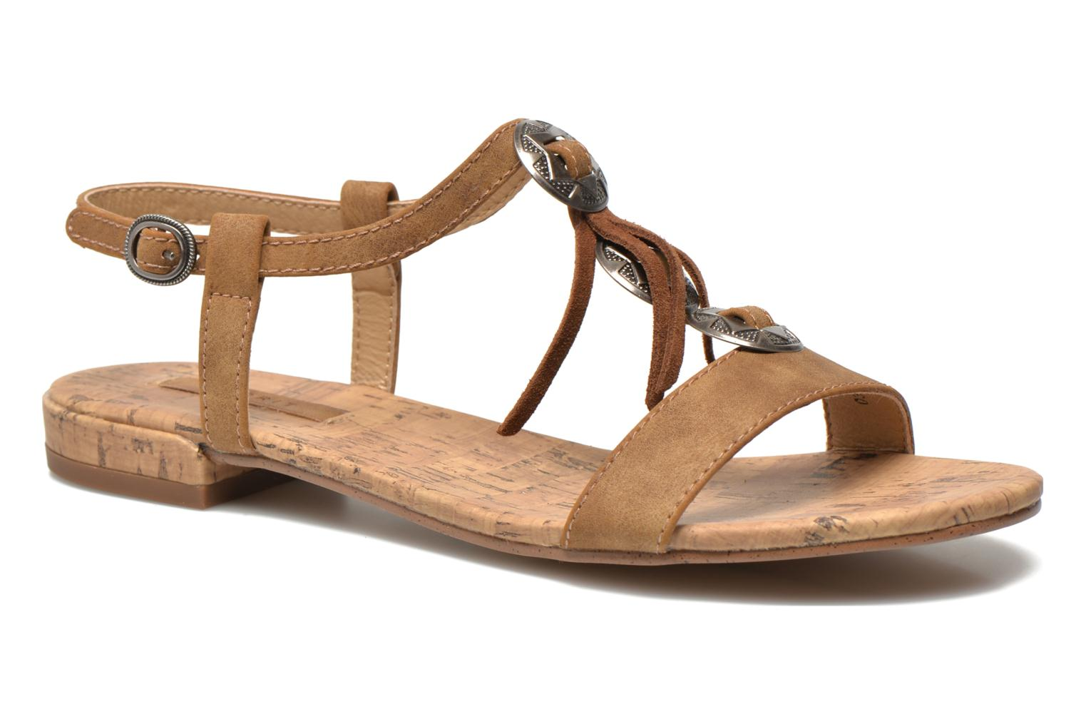 Sandals Esprit Aely Ter Sandal Brown detailed view/ Pair view