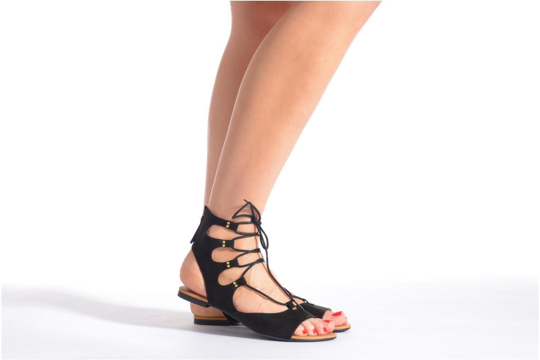 Sandalen Esprit Pepe Sandal 2 schwarz ansicht von unten / tasche getragen