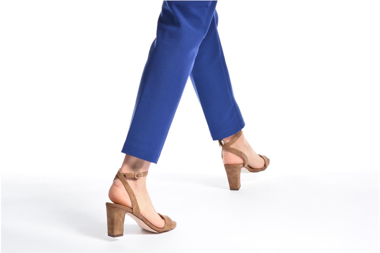 Sandales et nu-pieds Esprit Bless Sandal Gris vue bas / vue portée sac