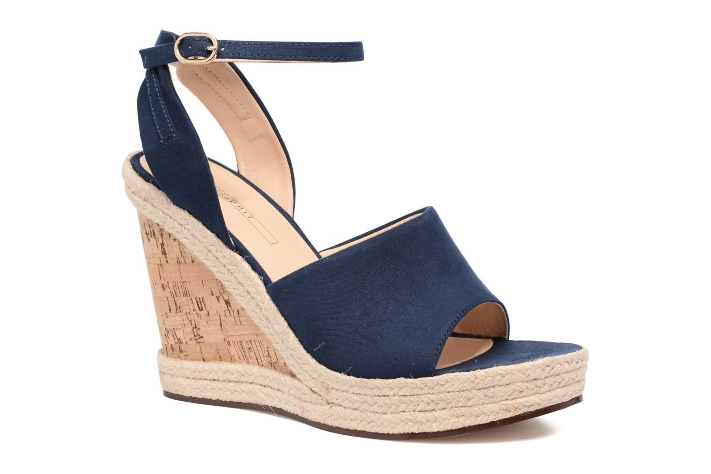 Sandales et nu-pieds Esprit Twiggy Sandal Bleu vue détail/paire