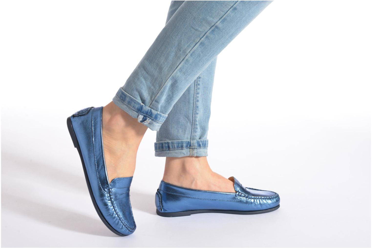 Loafers HE Spring Rita Penny Blue view from underneath / model view