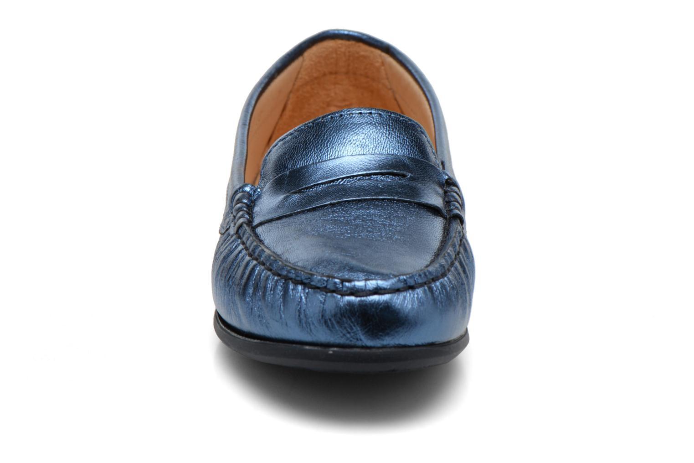 Mocassins HE Spring Rita Penny Bleu vue portées chaussures