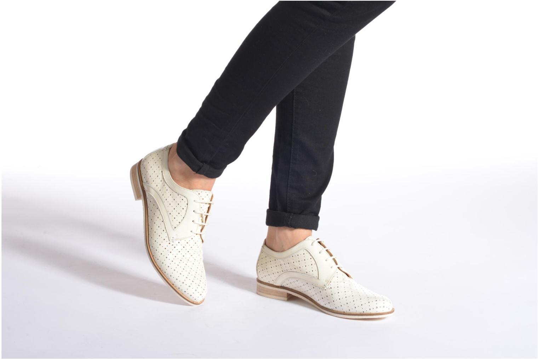 Chaussures à lacets HE Spring Bellem Bleu vue bas / vue portée sac