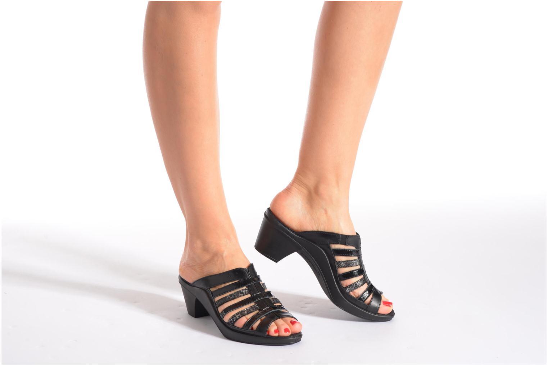 Clogs & Pantoletten Romika Mokassetta 285 schwarz ansicht von unten / tasche getragen