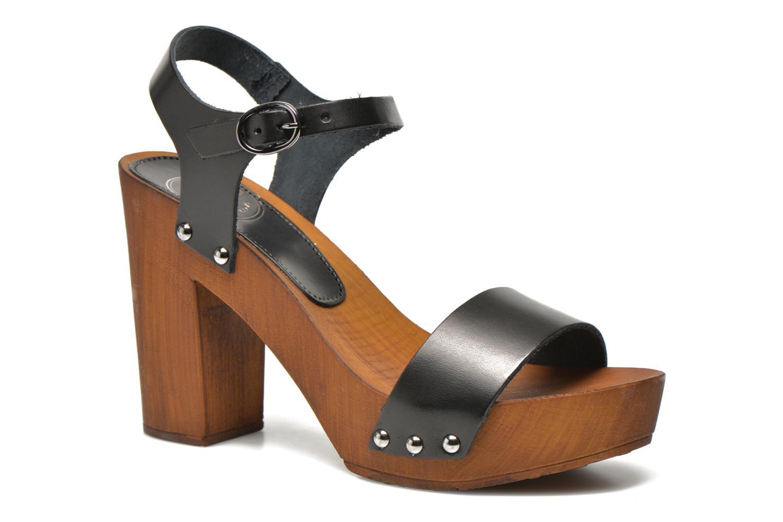 Sandales et nu-pieds Made by SARENZA Discow Girl #8 Noir vue face