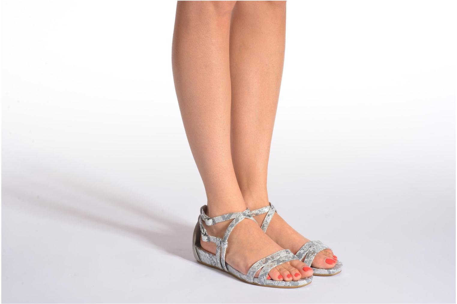 Sandals Madison Emour Silver view from underneath / model view