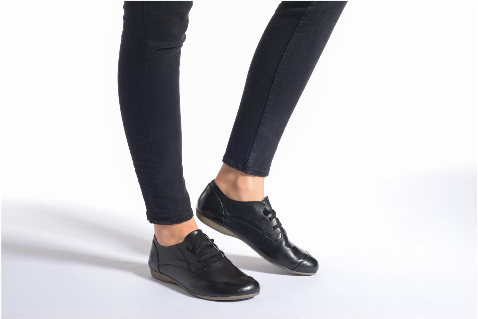 Lace-up shoes Josef Seibel Fiona 01 Black view from underneath / model view