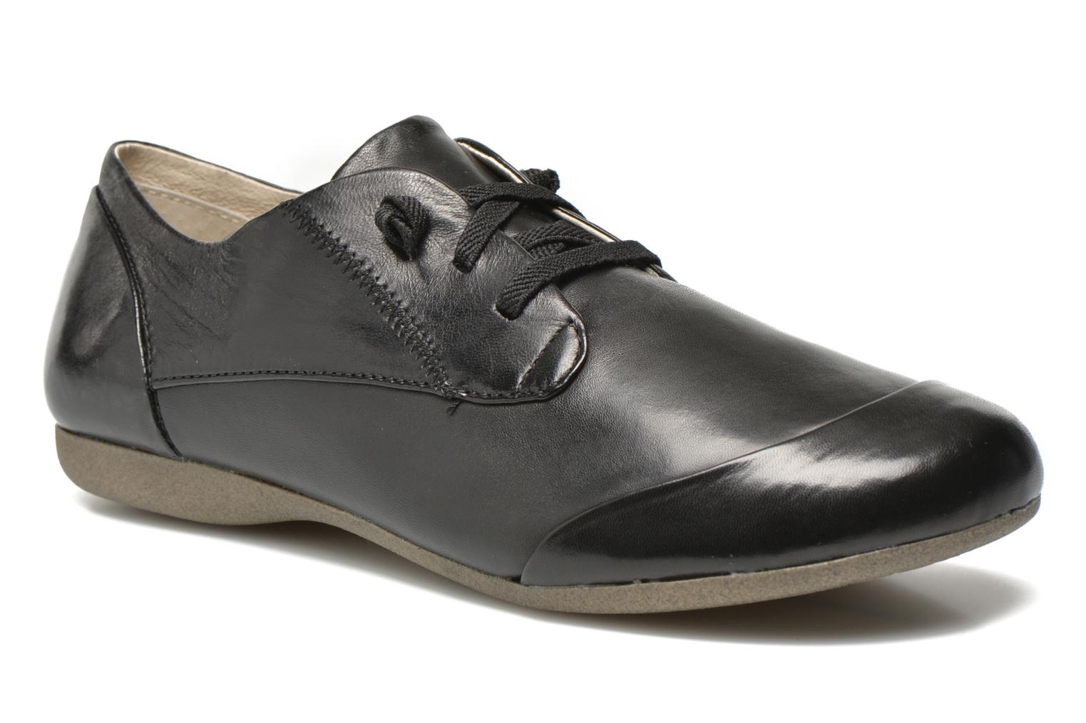 Lace-up shoes Josef Seibel Fiona 01 Black detailed view/ Pair view