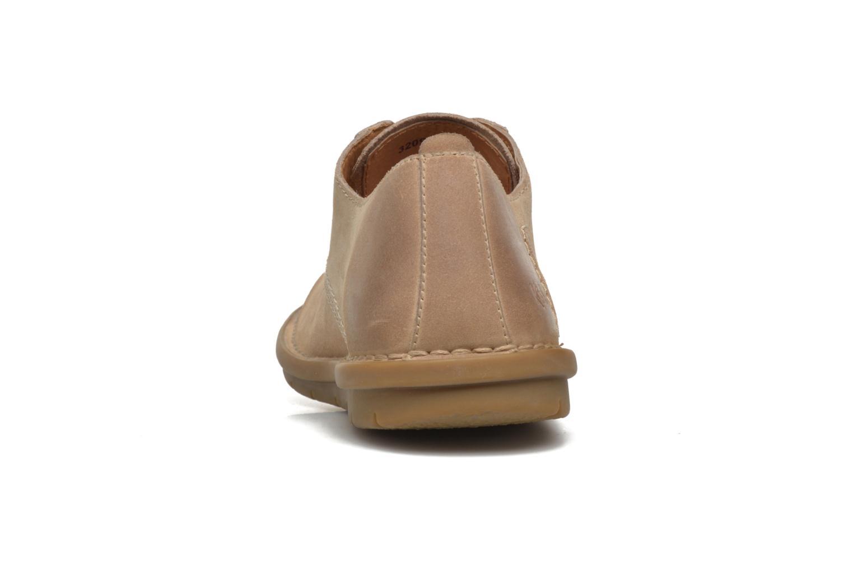 Zapatos con cordones Kickers VIKANG Beige vista lateral derecha