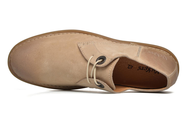 Zapatos con cordones Kickers VIKANG Beige vista lateral izquierda
