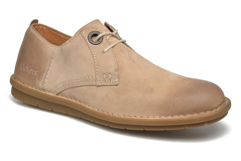 Zapatos con cordones Kickers VIKANG Beige vista de detalle / par