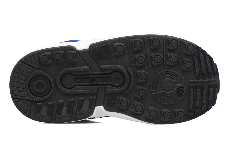 Baskets Adidas Originals Zx Flux El I Bleu vue haut