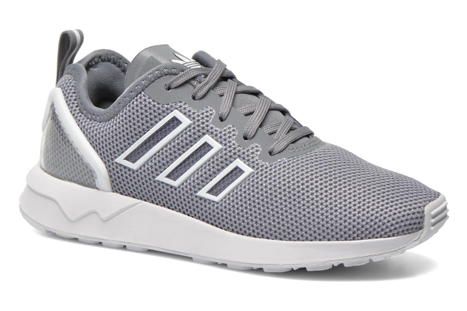 Trainers Adidas Originals Zx Flux Adv K Grey detailed view/ Pair view