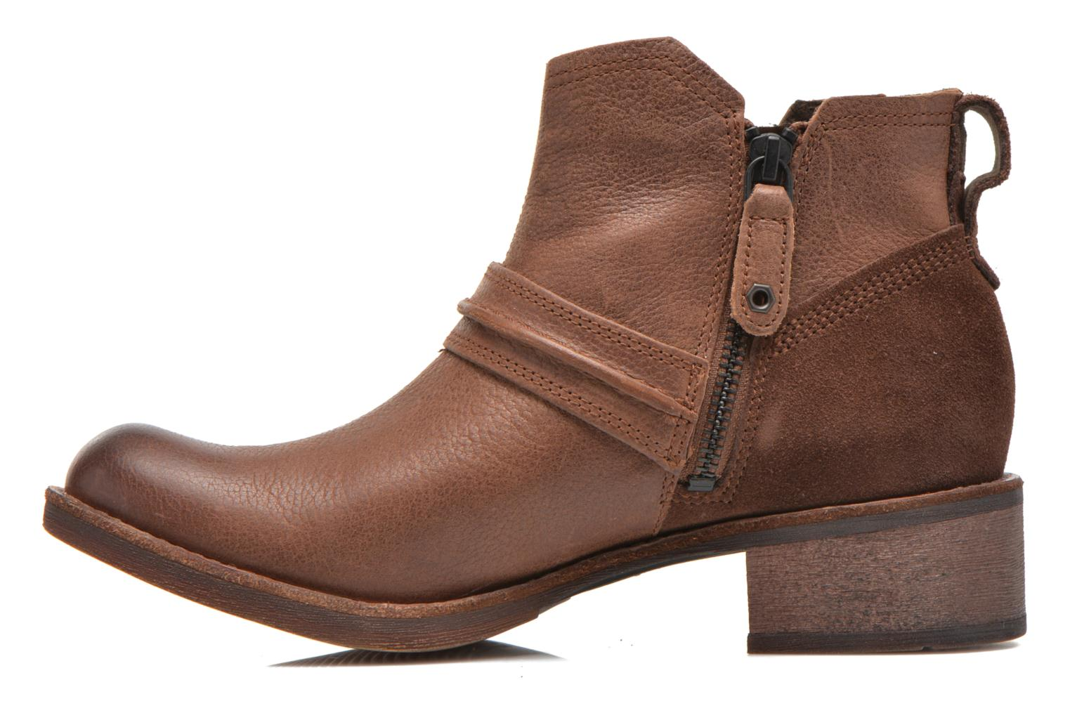 Whittemore Mid Lace Boot Dark Brown