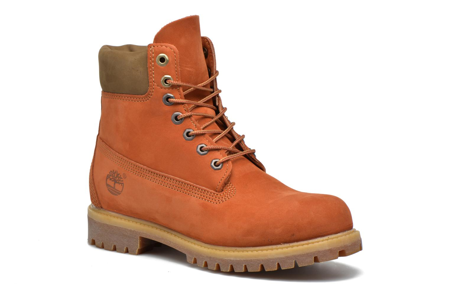 "Bottines et boots Timberland 6"" Premium Boot Marron vue détail/paire"