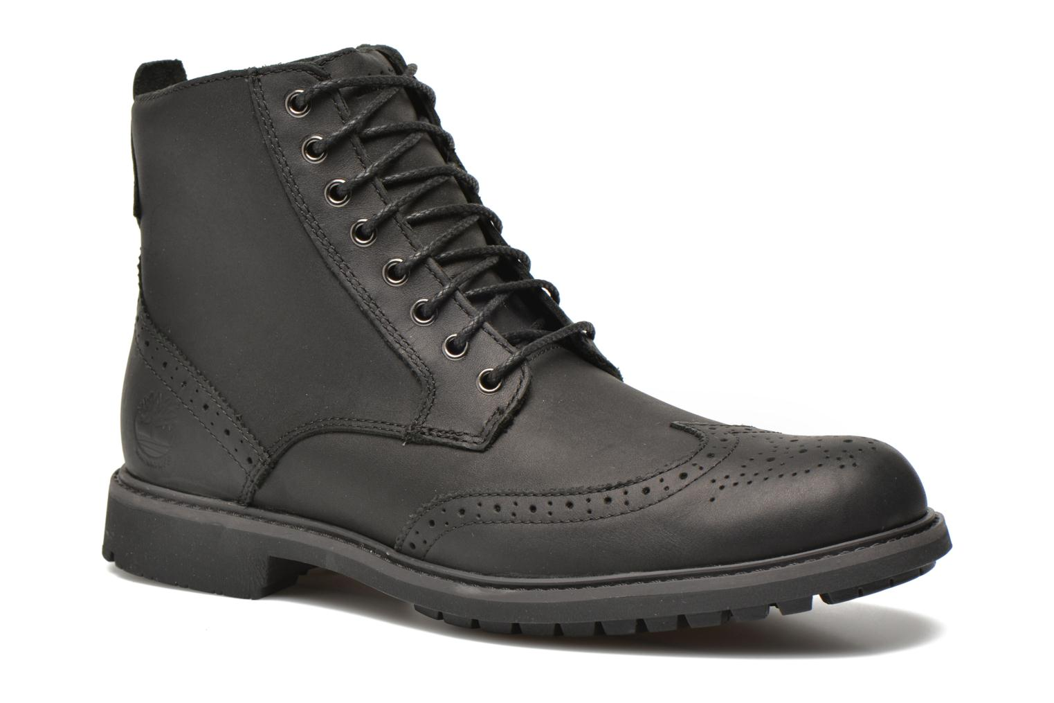 Stormbuck Waterproof Brogue Boots Black