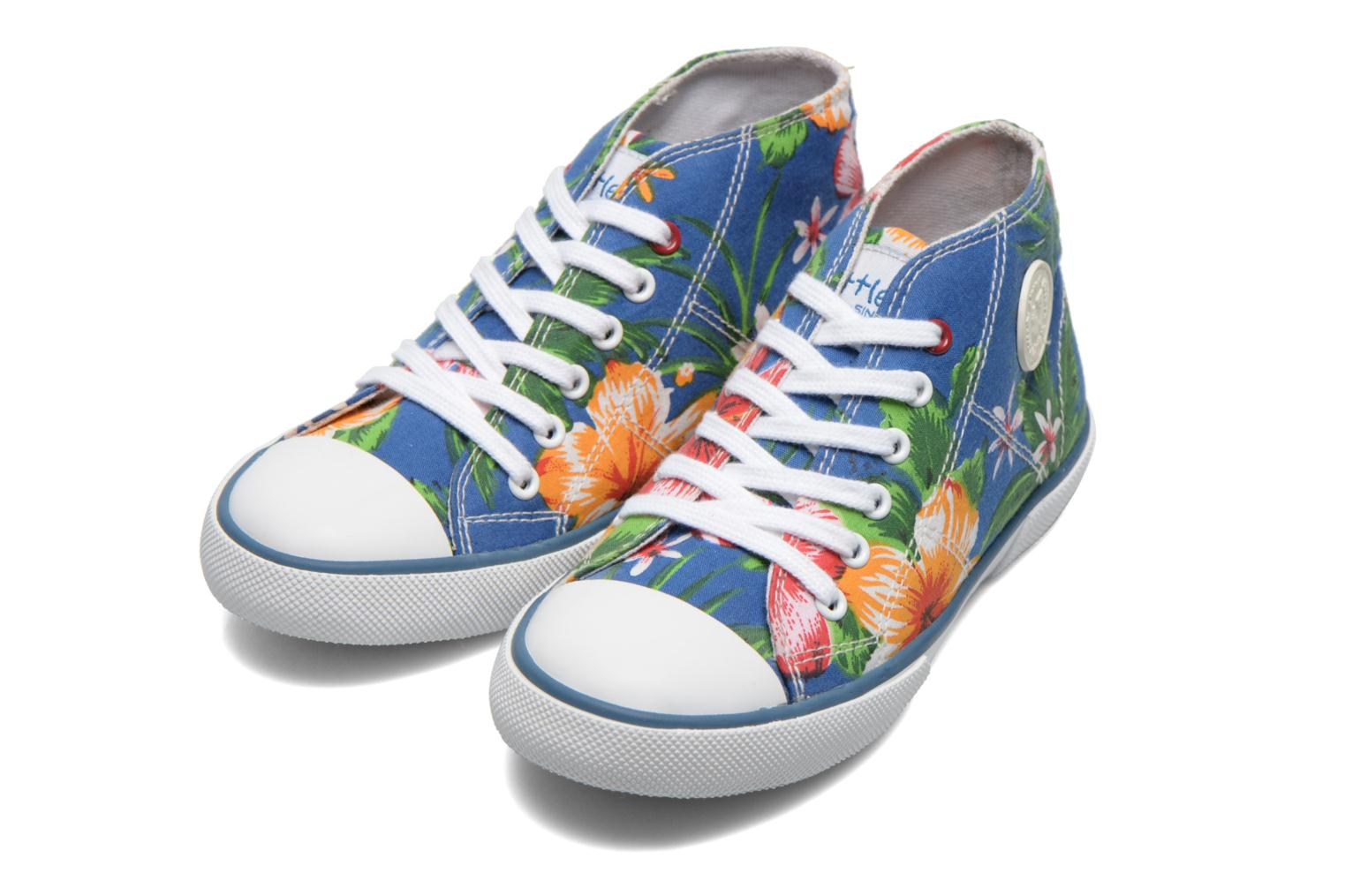 Sneakers Little Mary Little Basket Flowers Blauw 3/4'