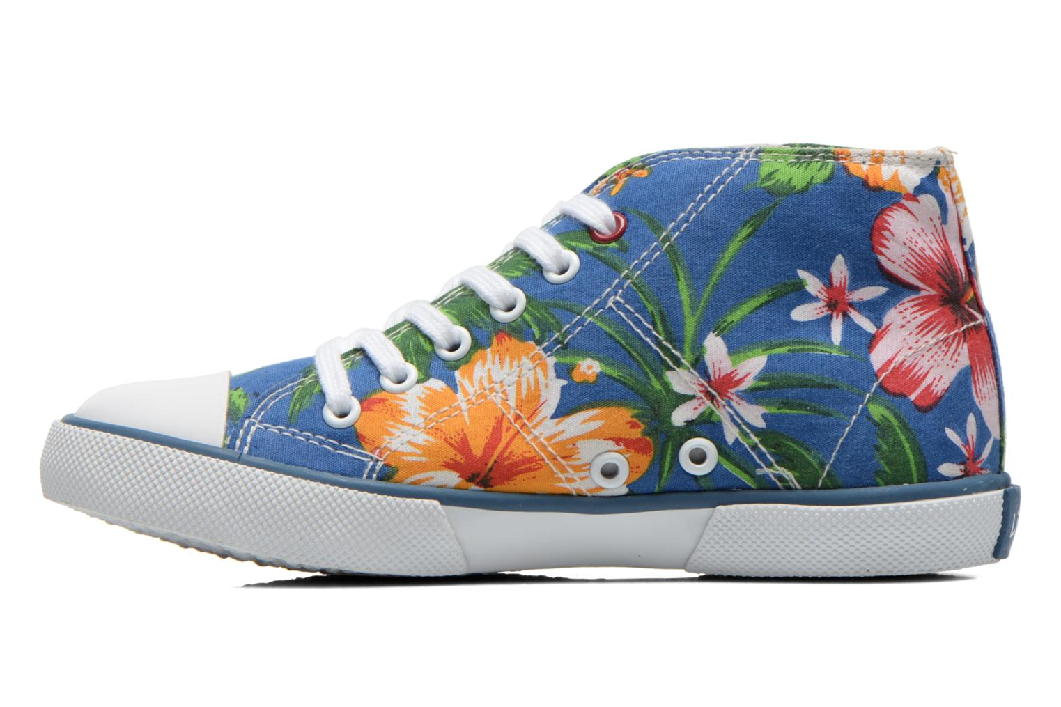Sneakers Little Mary Little Basket Flowers Blauw voorkant