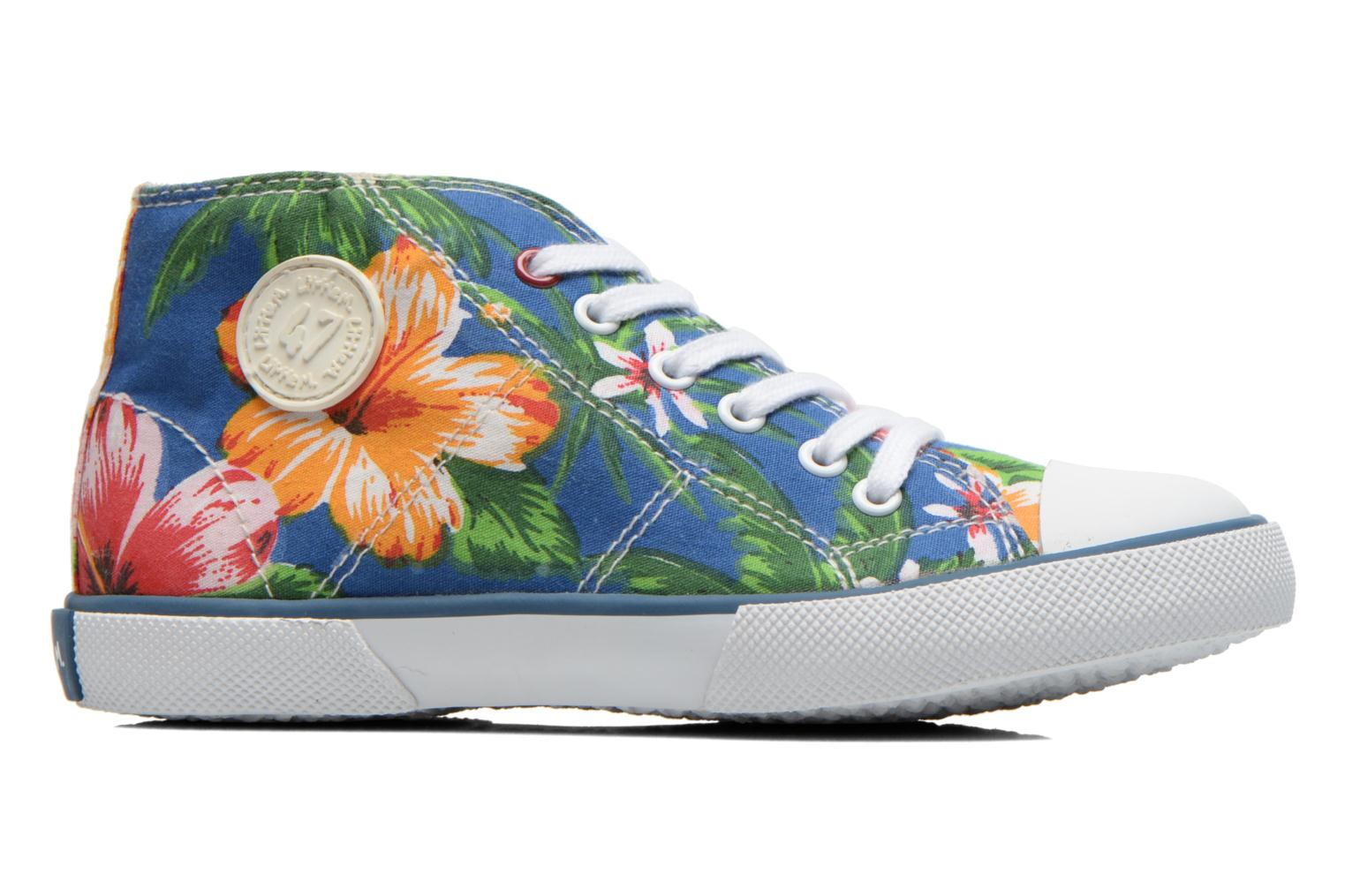 Sneakers Little Mary Little Basket Flowers Blauw achterkant