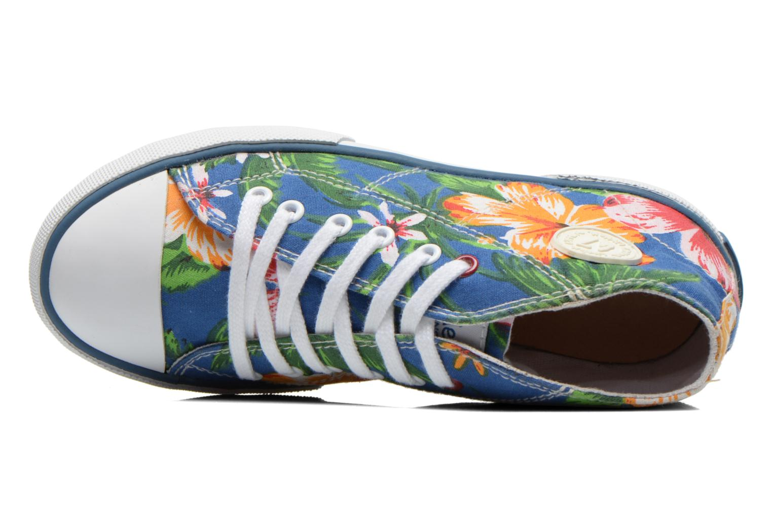 Sneakers Little Mary Little Basket Flowers Blauw links