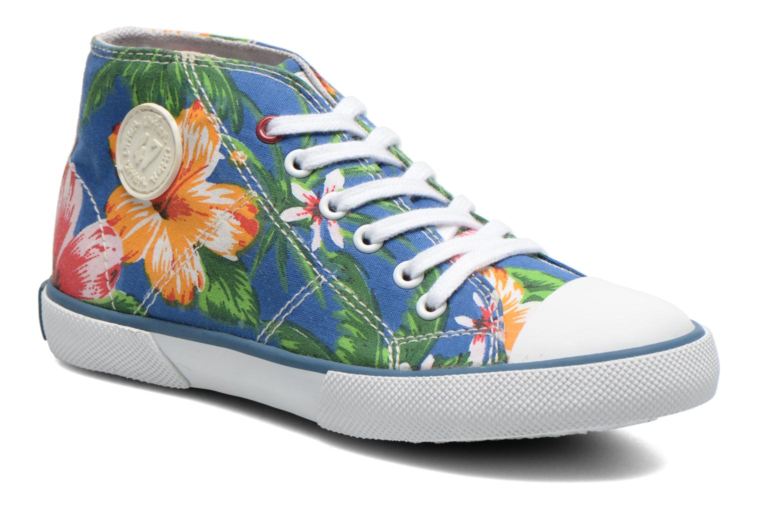 Sneakers Little Mary Little Basket Flowers Blauw detail