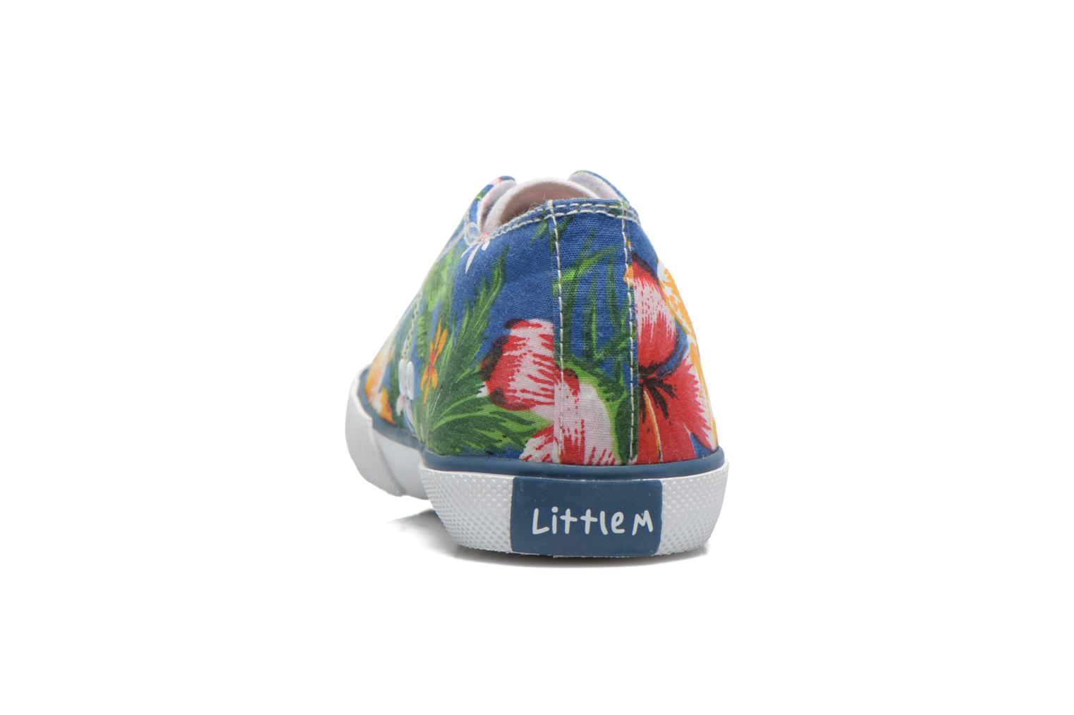 Baskets Little Mary Little Tennis Flower Bleu vue droite