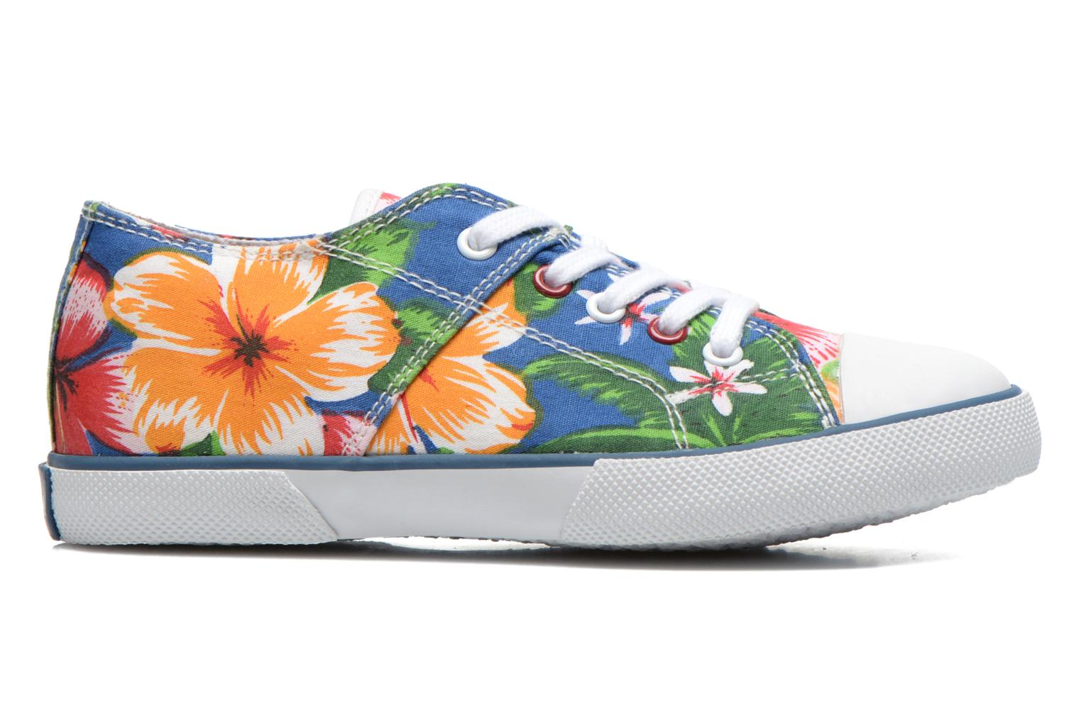 Sneaker Little Mary Little Tennis Flower blau ansicht von hinten