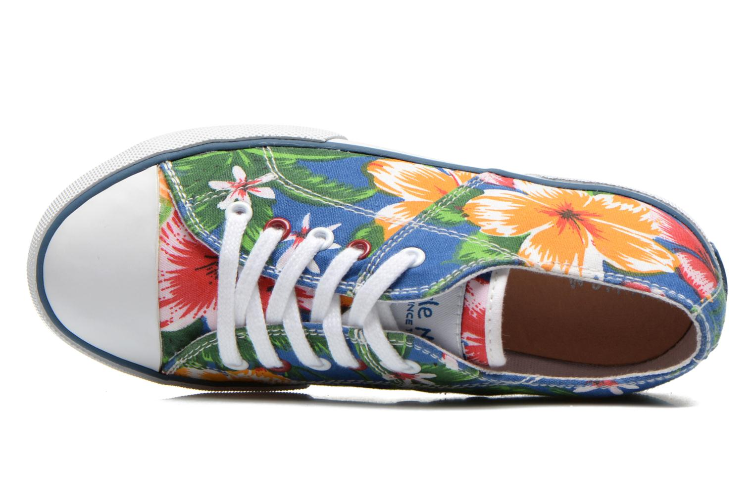 Sneaker Little Mary Little Tennis Flower blau ansicht von links