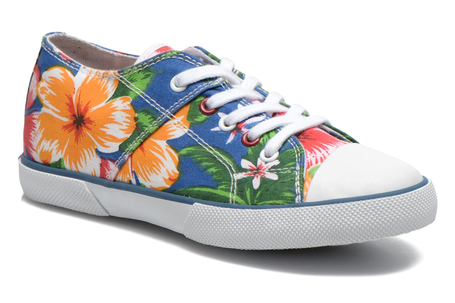 Baskets Little Mary Little Tennis Flower Bleu vue détail/paire