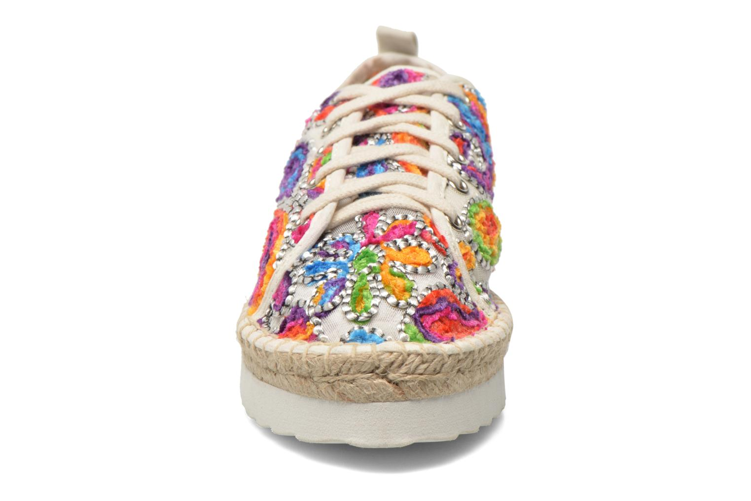 Espadrilles Colors of California Poshpadrille lacet Multicolor model view
