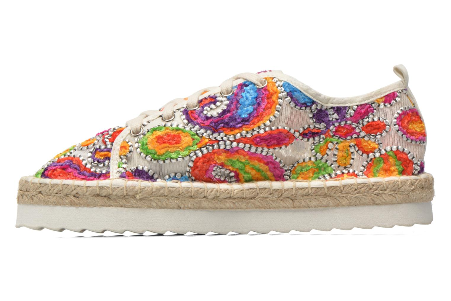 Espadrilles Colors of California Poshpadrille lacet Multicolor front view