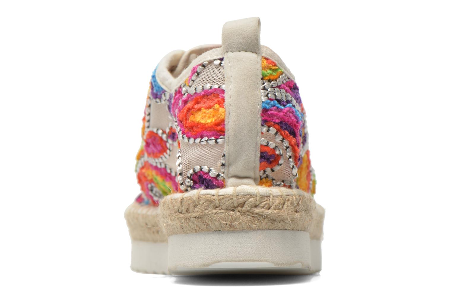 Espadrilles Colors of California Poshpadrille lacet Multicolor view from the right