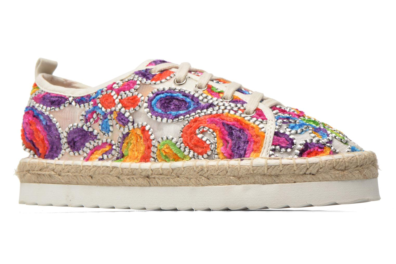 Espadrilles Colors of California Poshpadrille lacet Multicolor back view