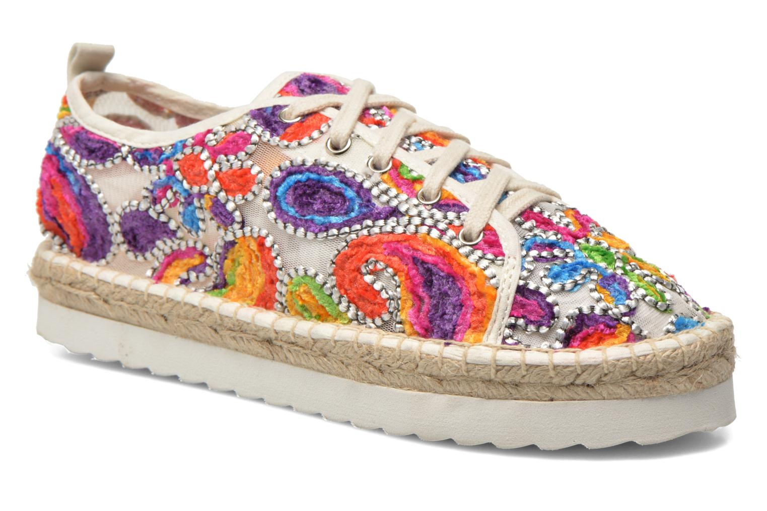 Espadrilles Colors of California Poshpadrille lacet Multicolor detailed view/ Pair view