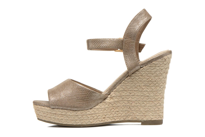 Sandales et nu-pieds Xti Hobby 45855 Or et bronze vue face
