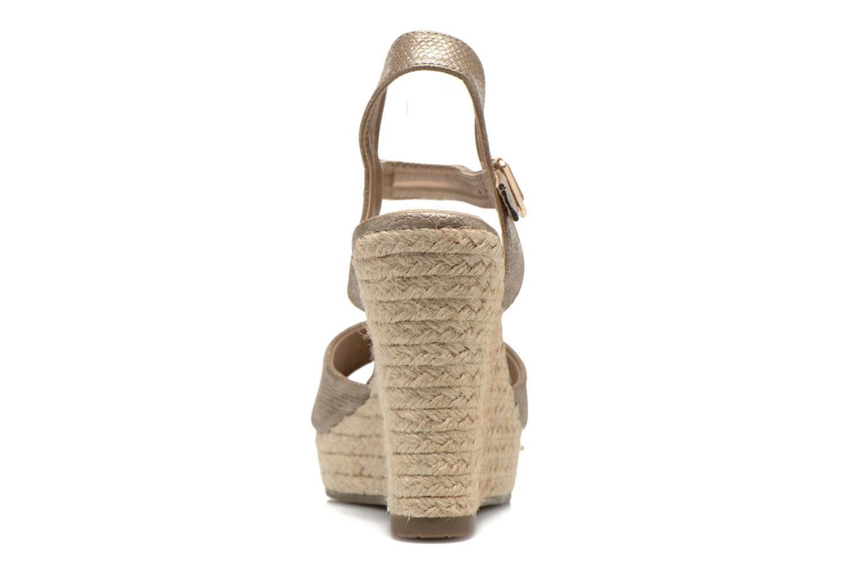 Sandales et nu-pieds Xti Hobby 45855 Or et bronze vue droite