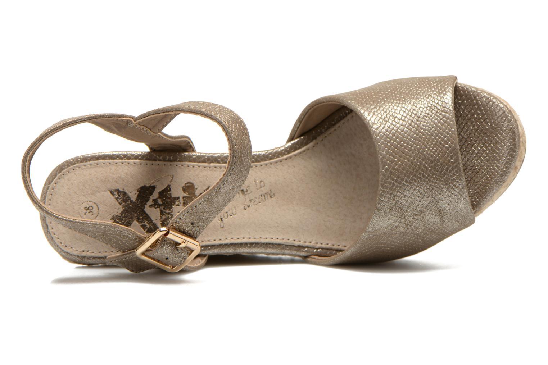 Sandales et nu-pieds Xti Hobby 45855 Or et bronze vue gauche