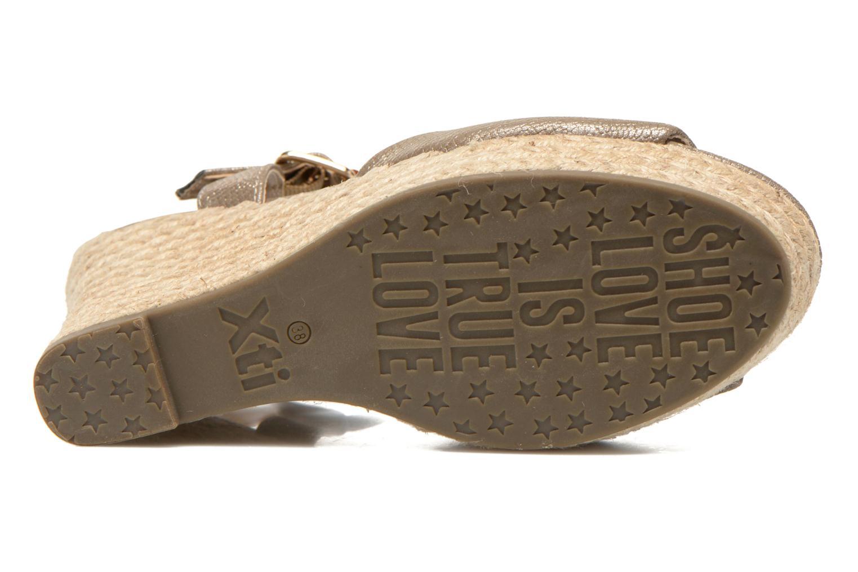 Sandalias Xti Hobby 45855 Oro y bronce vista de arriba