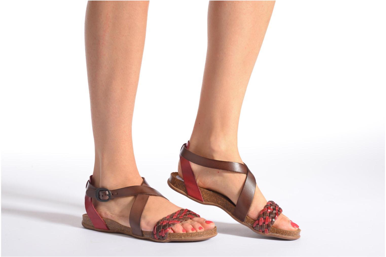 Sandales et nu-pieds Kickers Analogia Rose vue bas / vue portée sac