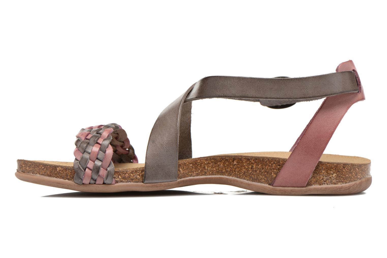Sandales et nu-pieds Kickers Analogia Rose vue face