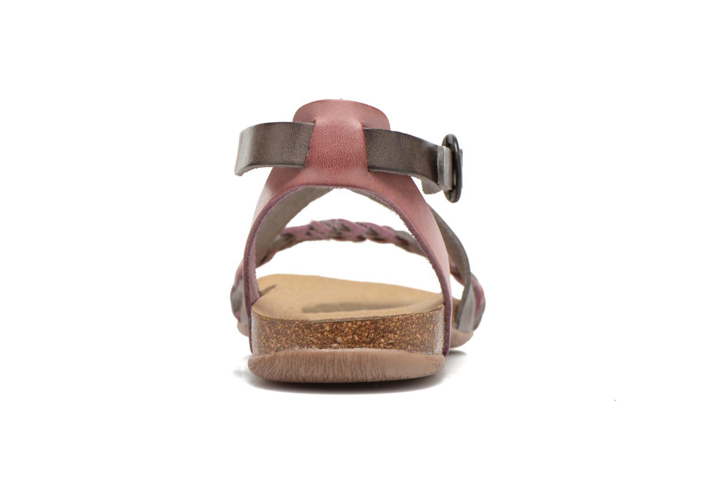 Sandalen Kickers Analogia rosa ansicht von rechts