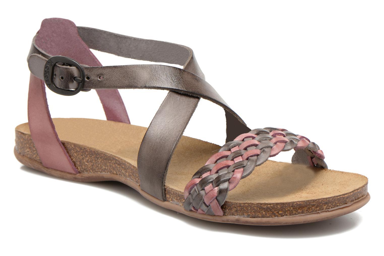 Sandales et nu-pieds Kickers Analogia Rose vue détail/paire