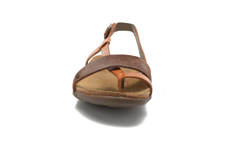 Sandales et nu-pieds Kickers Alchimie Marron vue portées chaussures
