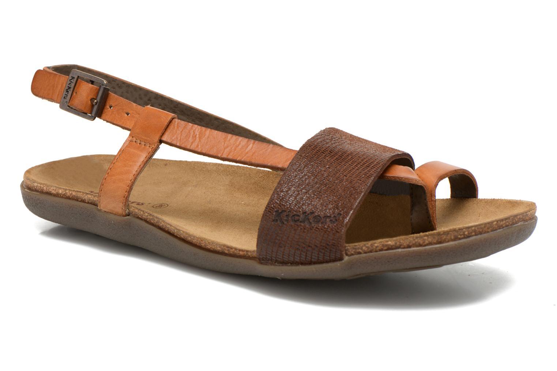 Sandales et nu-pieds Kickers Alchimie Marron vue détail/paire