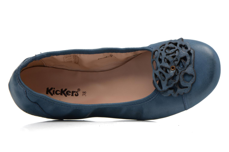 Bailarinas Kickers Liber Azul vista lateral izquierda