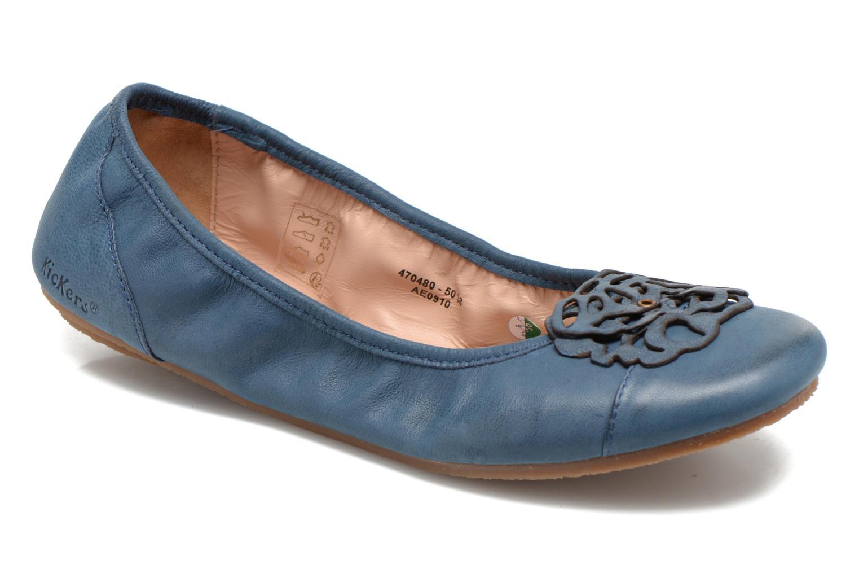 Ballerinas Kickers Liber blau detaillierte ansicht/modell