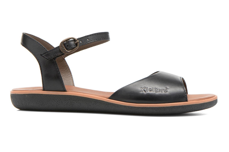 Sandales et nu-pieds Kickers Hypsi Noir vue derrière